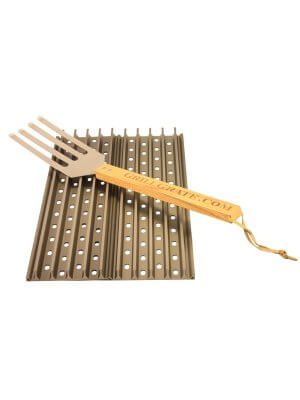 Grill Grate Kit - Twee 49cm BBQ Roosters Inclusief GrateTool