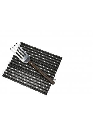 GrillGrate Set - Drie 44cm BBQ Roosters inclusief GrateTool