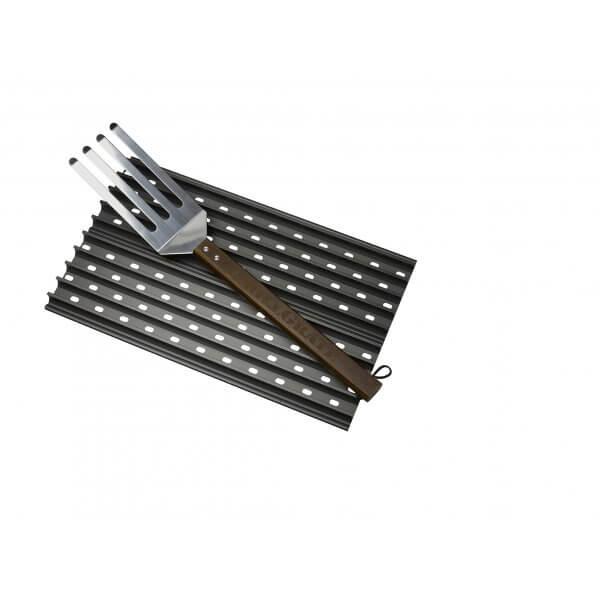GrillGrate Set - Twee 40cm BBQ Roosters Inclusief GrateTool